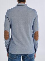 Poloshirt met lange mouw, geknoopte kraag