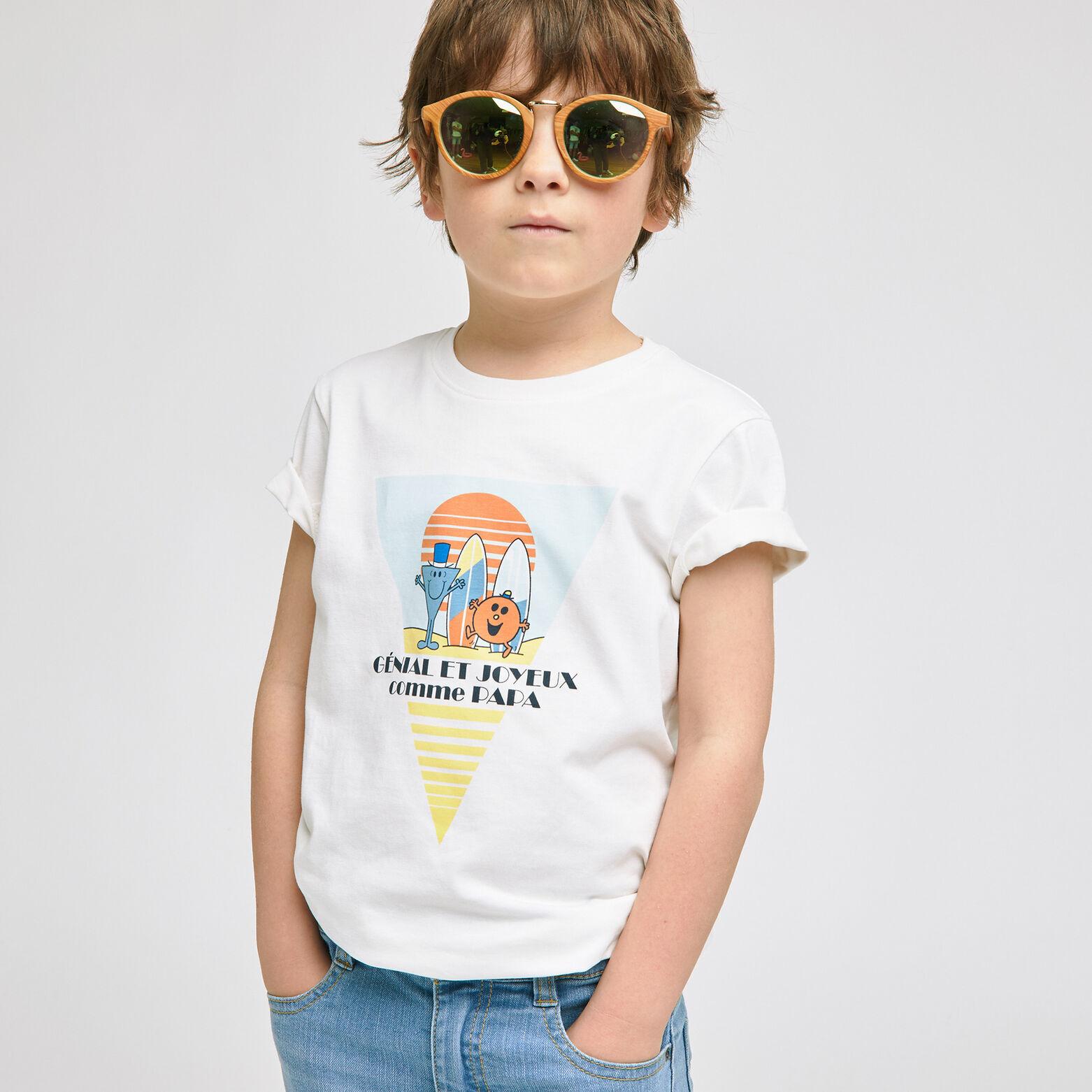 Ensemble mini moi tee shirt licence Mr Mme - Blanc