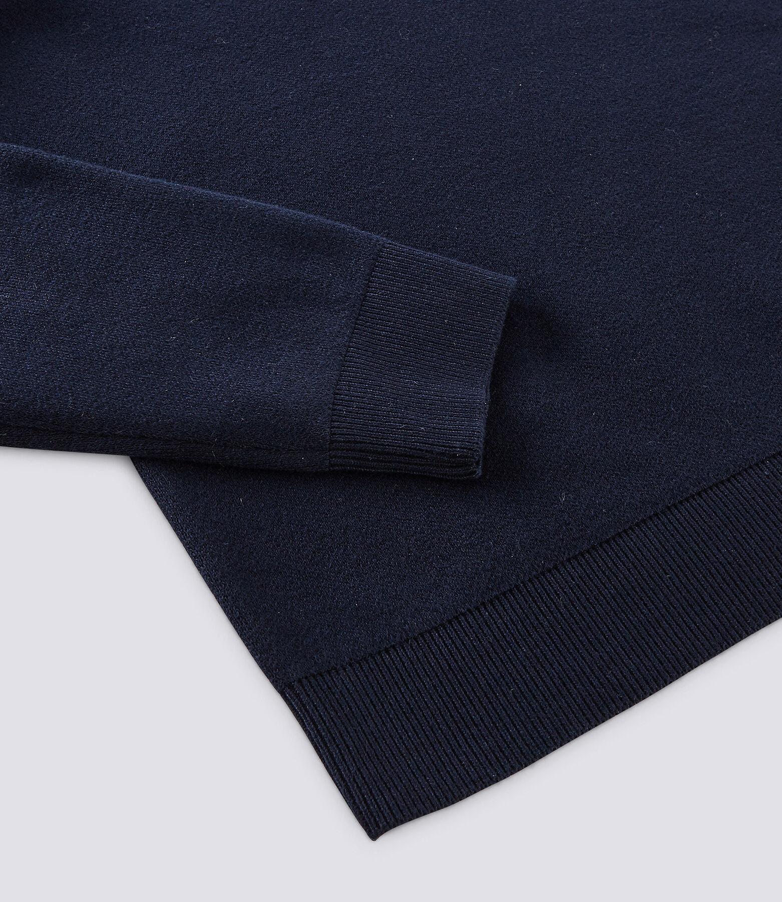 Pull col montant en coton mélangé effet colorblock