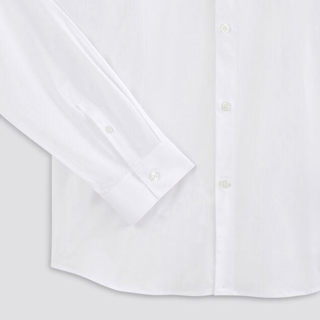 Chemise slim unie polyester recyclé