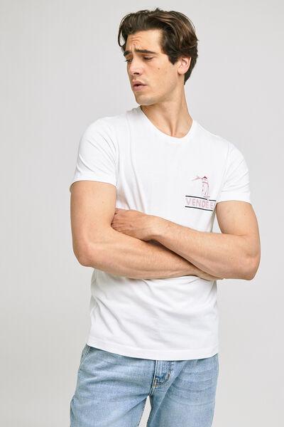 Tee-shirt imprimé station  balnéaire VENDEEN