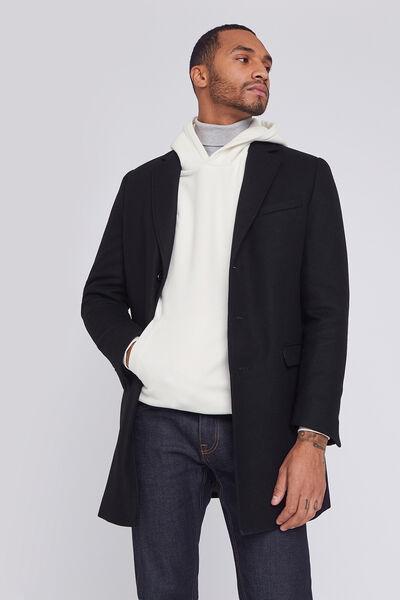 Manteau 3/4 en laine italienne majoritaire