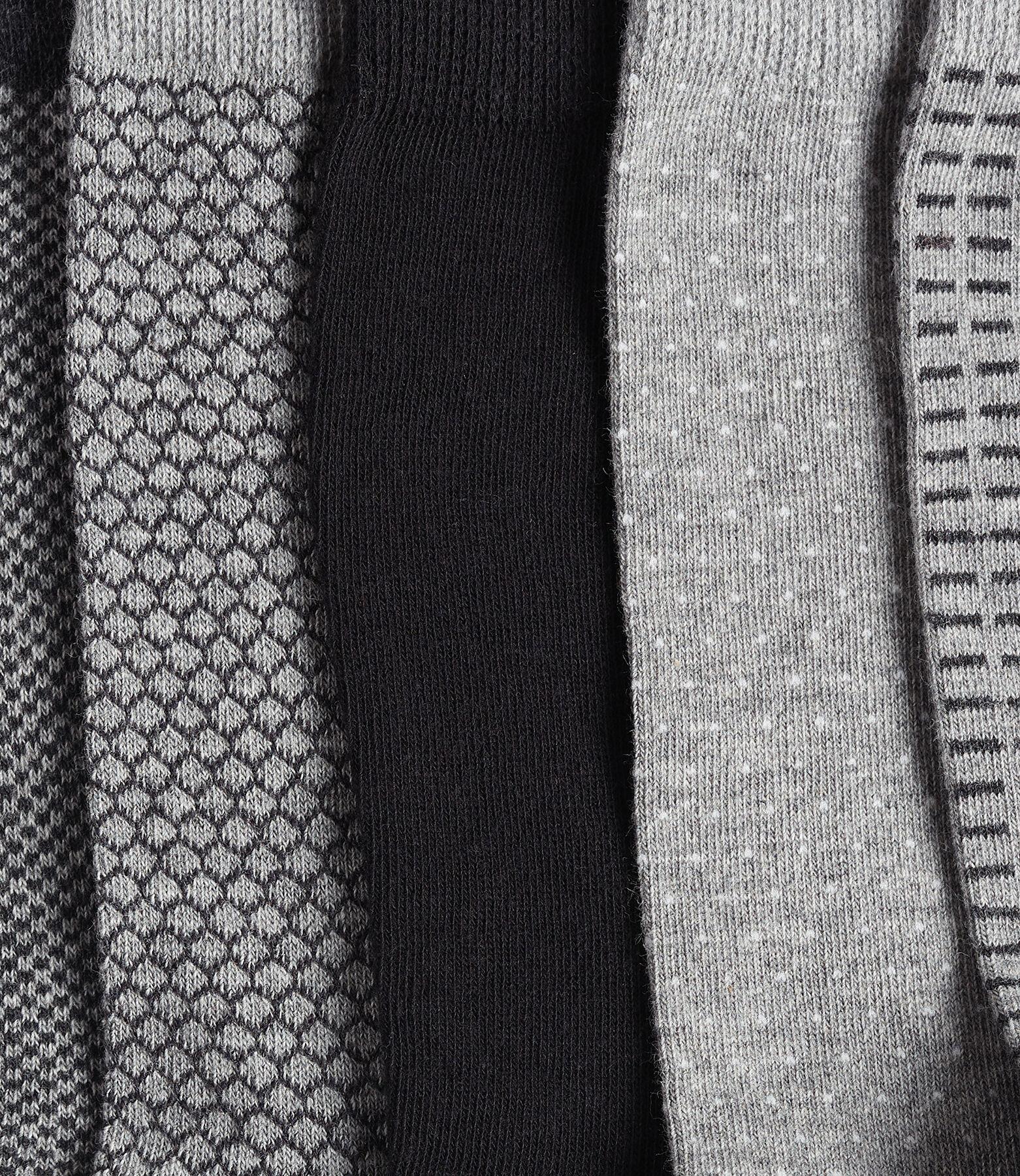 Lot de 5 paires de chaussettes à imprimés géométri