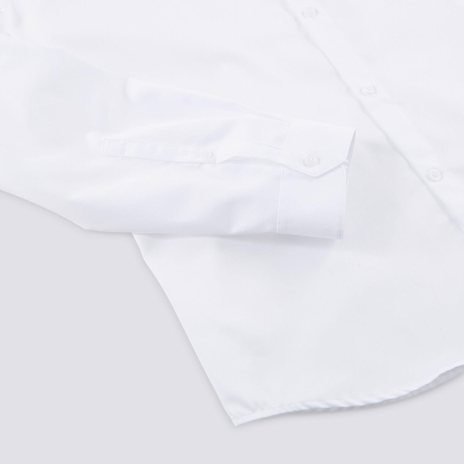 Chemise slim unie col cassé coton