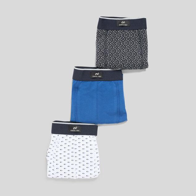 Lot de 3 boxers à petits motifs
