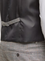Gilet de costume carreaux
