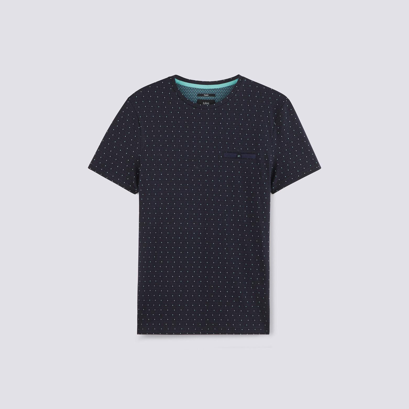 Tee shirt col rond motif graphique