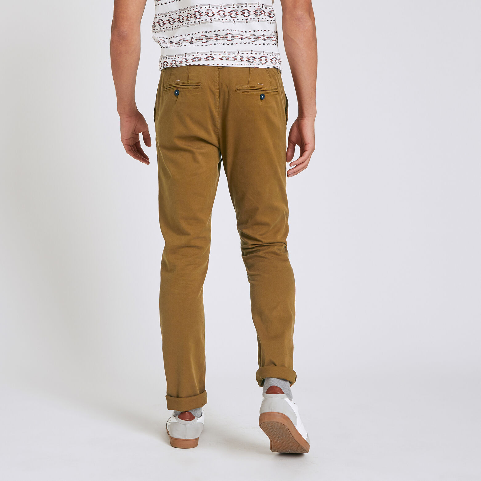 Pantalon chino droit canvas
