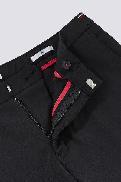 Pantalon chino slim ceinture semi élastiquée
