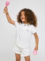 Polo enfant manches courtes en coton biologique