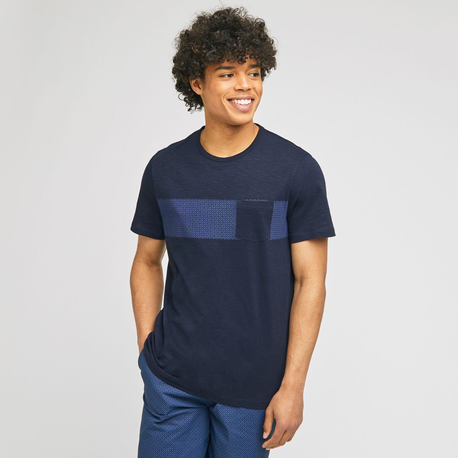 Tee shirt pyjama col rond