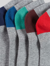 Lot de 5 paires de chaussettes talons pointes cont