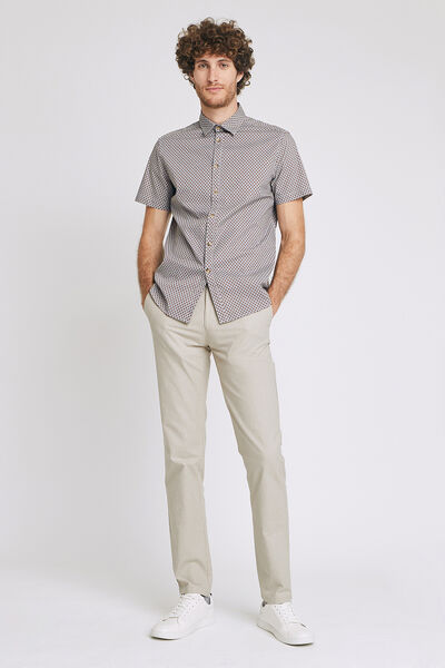 Pantalon chino regular faux uni