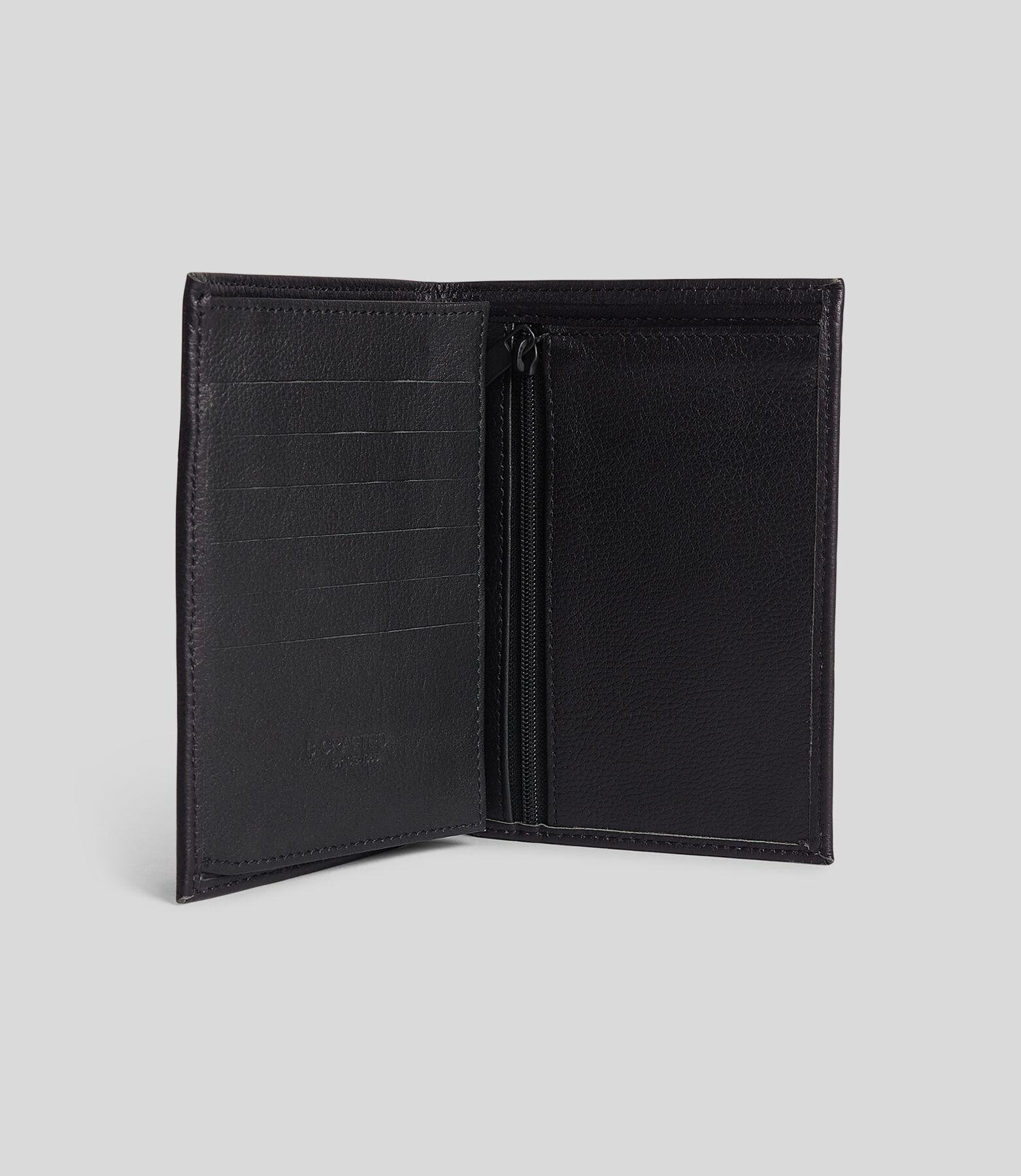 Portefeuille homme vertical cuir noir