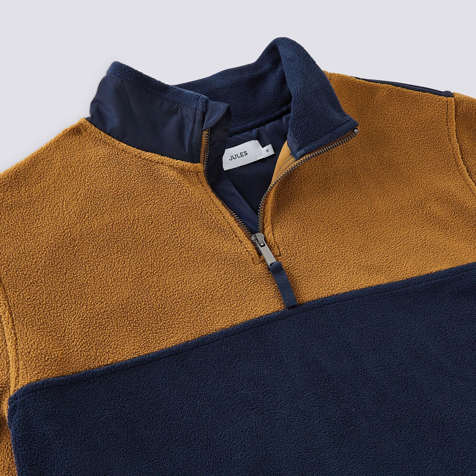 Sweatshirt col montant zippé en polaire