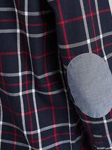 Geruit hemd met elleboogstukken