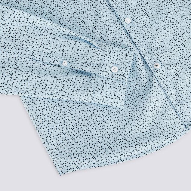 Chemise slim imprimé géométrique coton