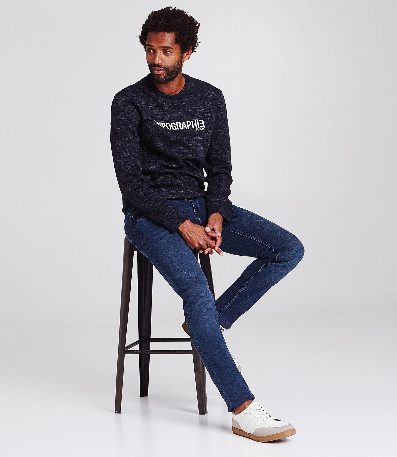 Skinny jeans Max 4L, donkerblauw, gewassen