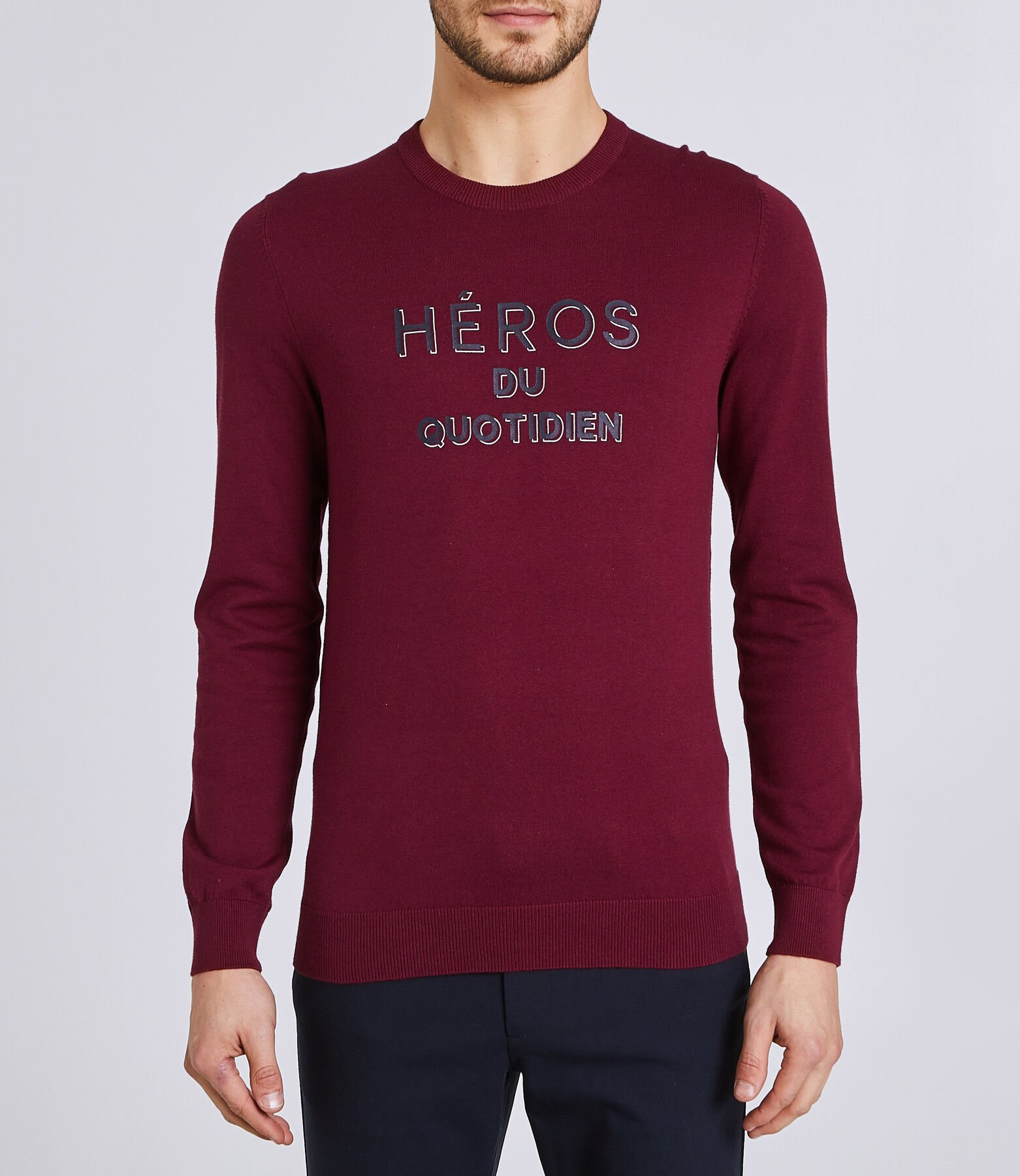 Pull col rond message HEROS DU QUOTIDIEN