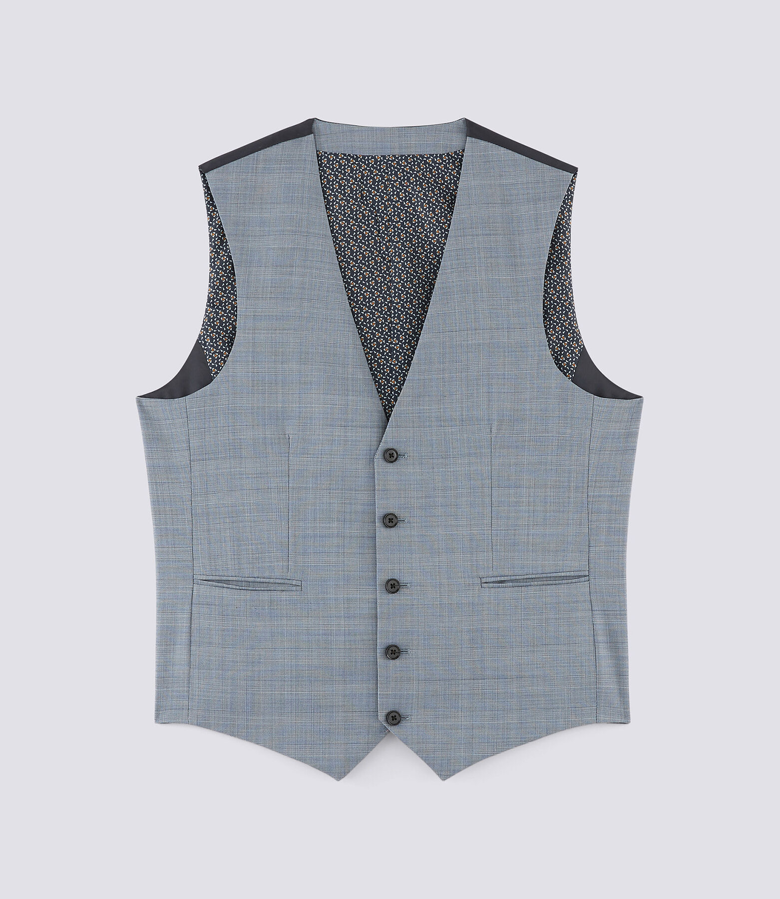 Gilet de costume à carreaux