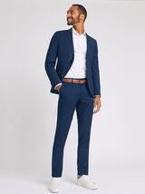 Ensemble de costume slim matière reliefée - Bleu Marine