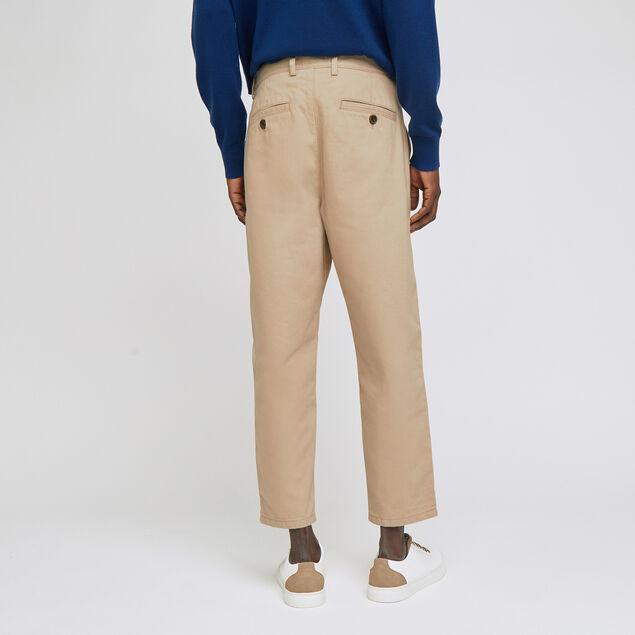 Pantalon chino large à pinces