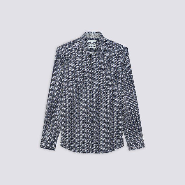 Chemise extra slim imprimé motif coton