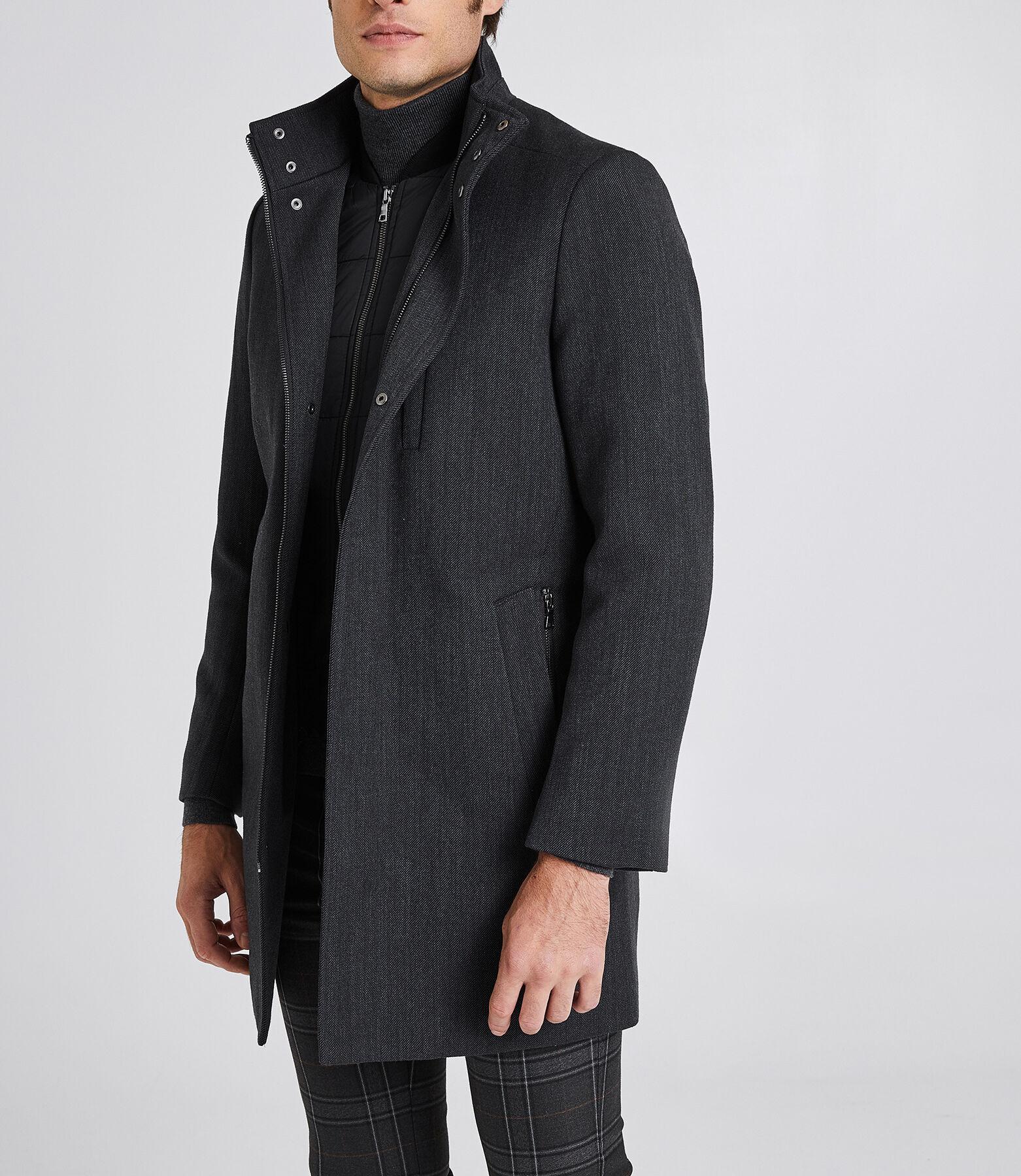 Manteau long zippé doublure amovible