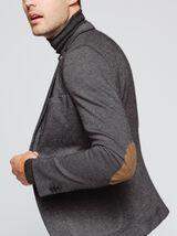 Veste coupe slim en maille avec coudières