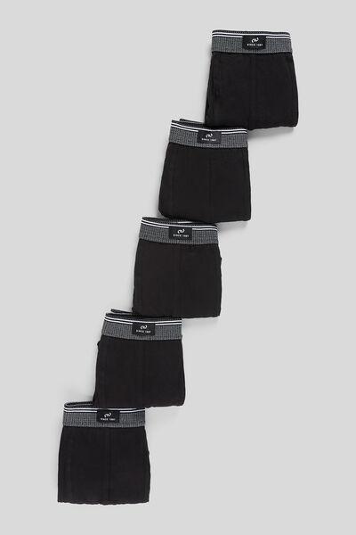 Lot de 5 boxers unis coton issu de l'agriculture b
