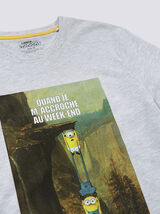 Tee shirt Minions Adulte QUAND JE M'ACCROCHE AU WE