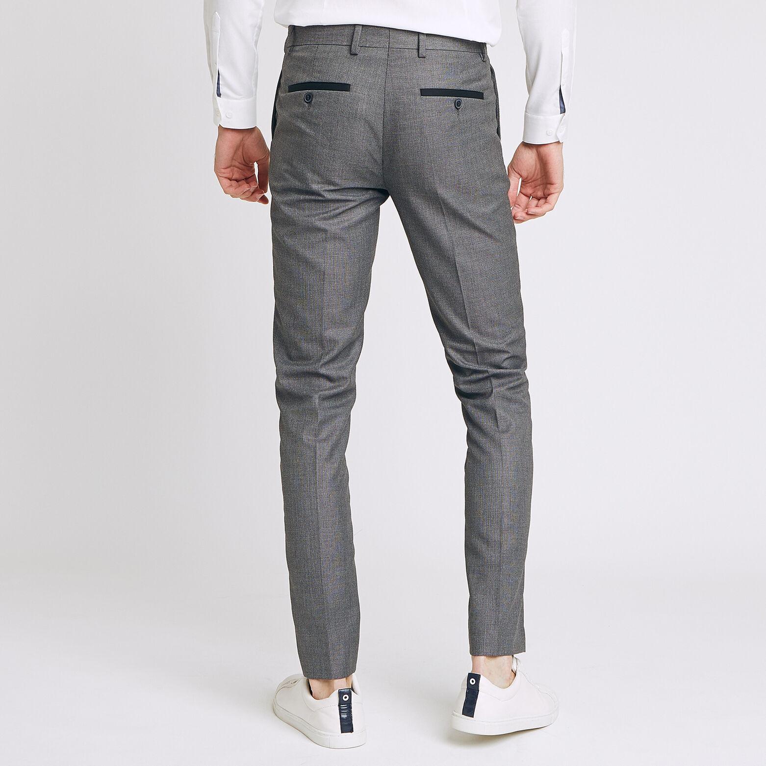 Pantalon de costume matière reliefée