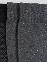 Lot de 3 paires de chaussettes jacquard coton issu