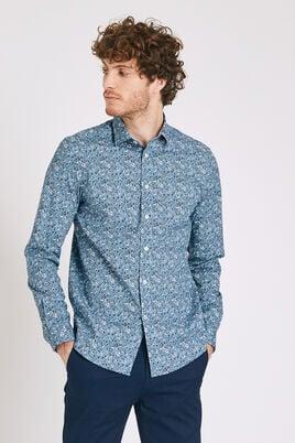 Slim hemd stretch met bloemenprint