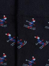 Paire de chaussettes graphiques petits skieur