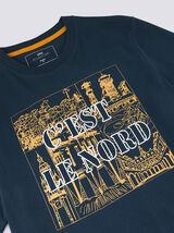 Tee shirt col rond motif Hauts de France