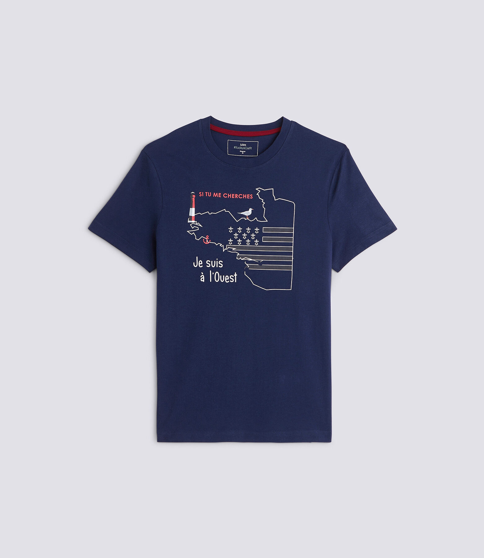 T-shirt met knipoog naar de regio Bretagne