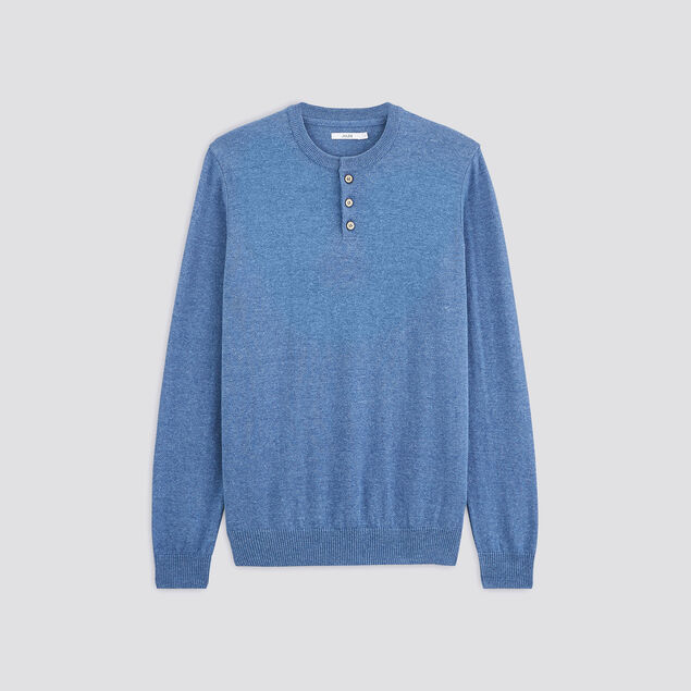 Pull fin manches longues col tunisien