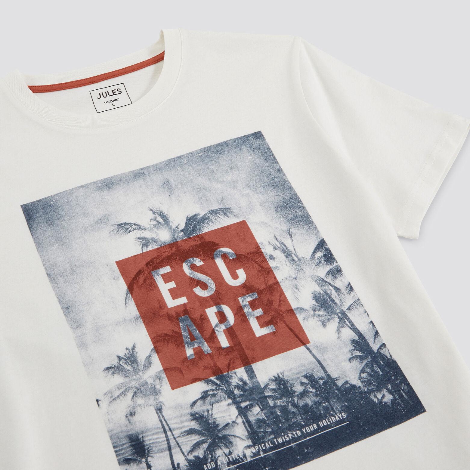 Tee-shirt imprimé et typo coton issu de l'agri.bio