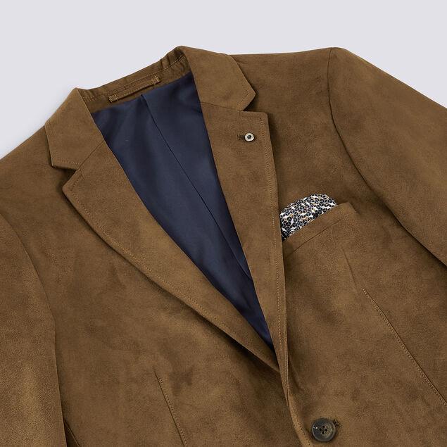 veste seule slim en suédine