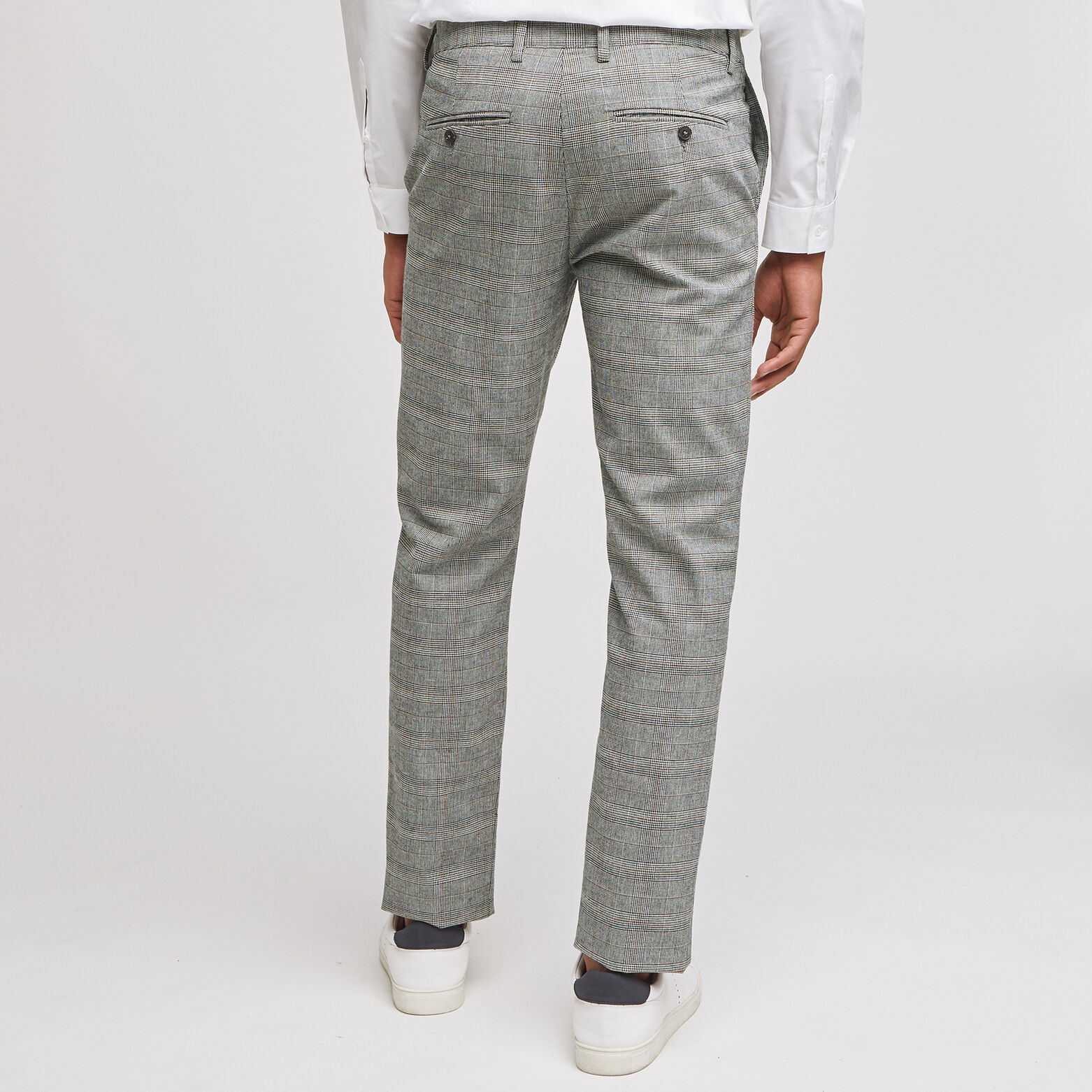 Pantalon chino slim à carreaux