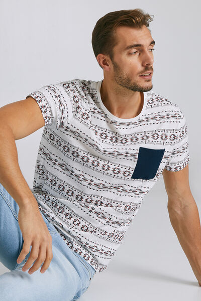 T-shirt met korte mouw, ronde hals