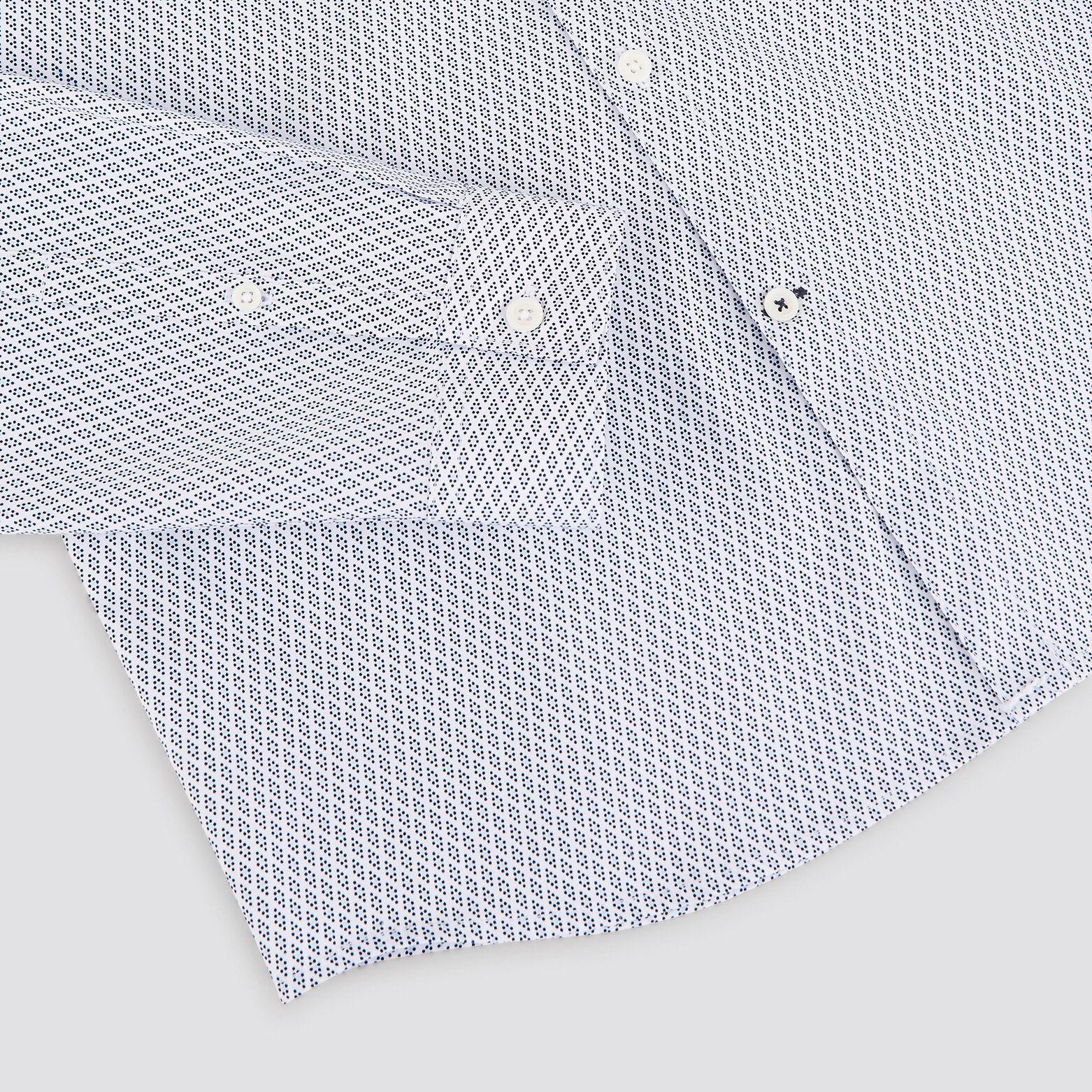 Chemise slim imprimé micro-pois coton