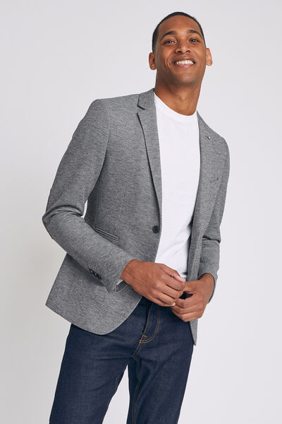veste seule slim en maille bicolore