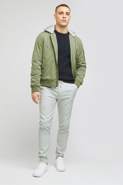 Pantalon chino à carreaux et ceinture elastiquée