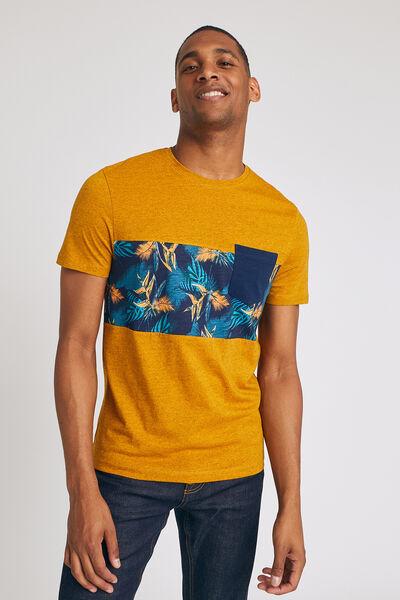 T-shirt met gestanste print van paradijsvogels