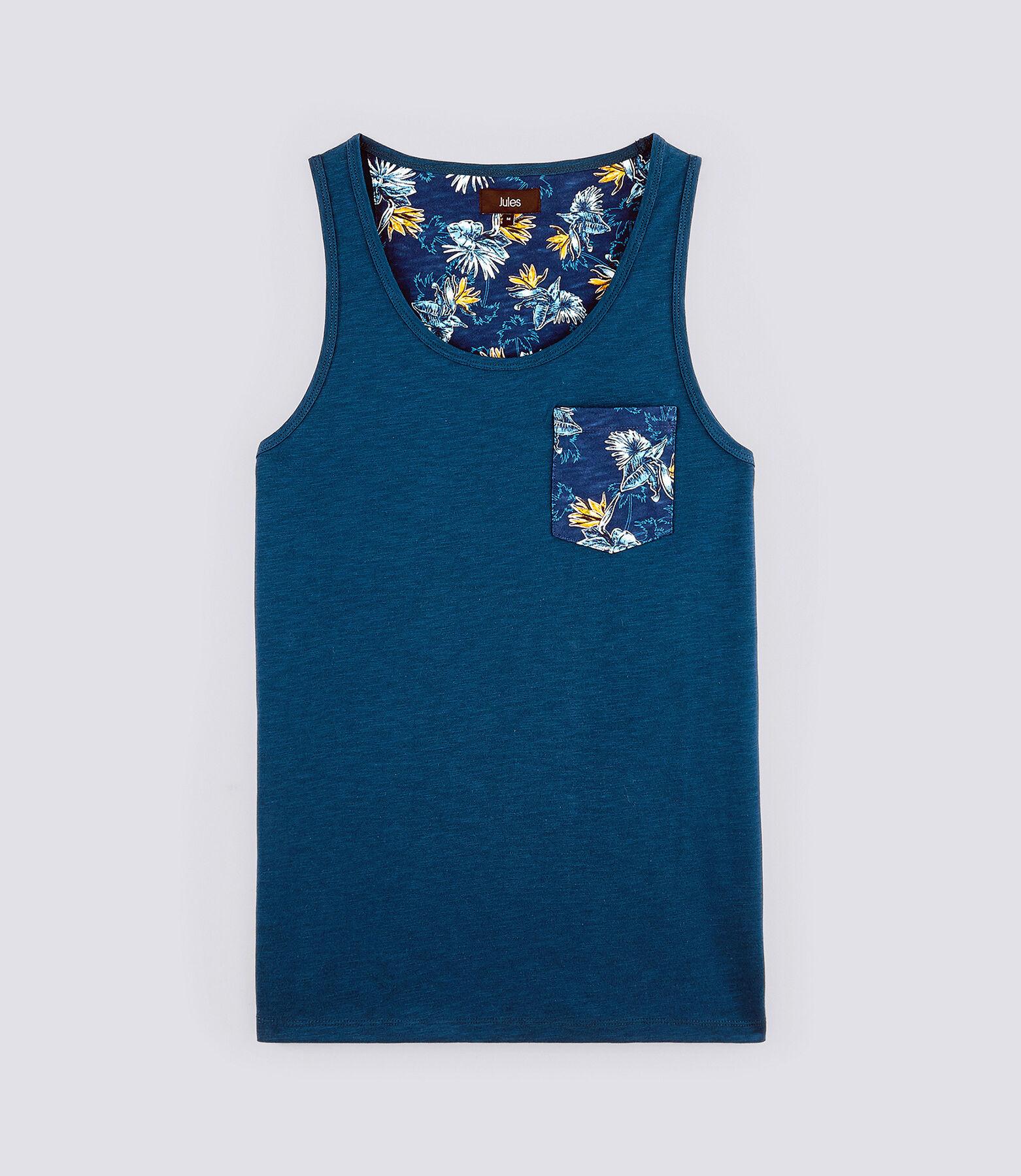 T-Shirt Bleu Petrole