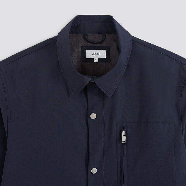 Veste en poly coton col chemise