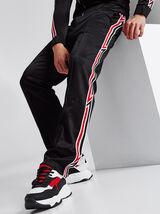 Pantalon de jogging color block molleton