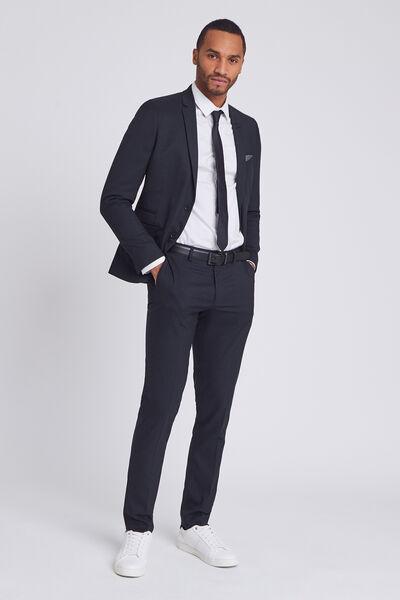 Pantalon de costume extra slim motif pied de puce